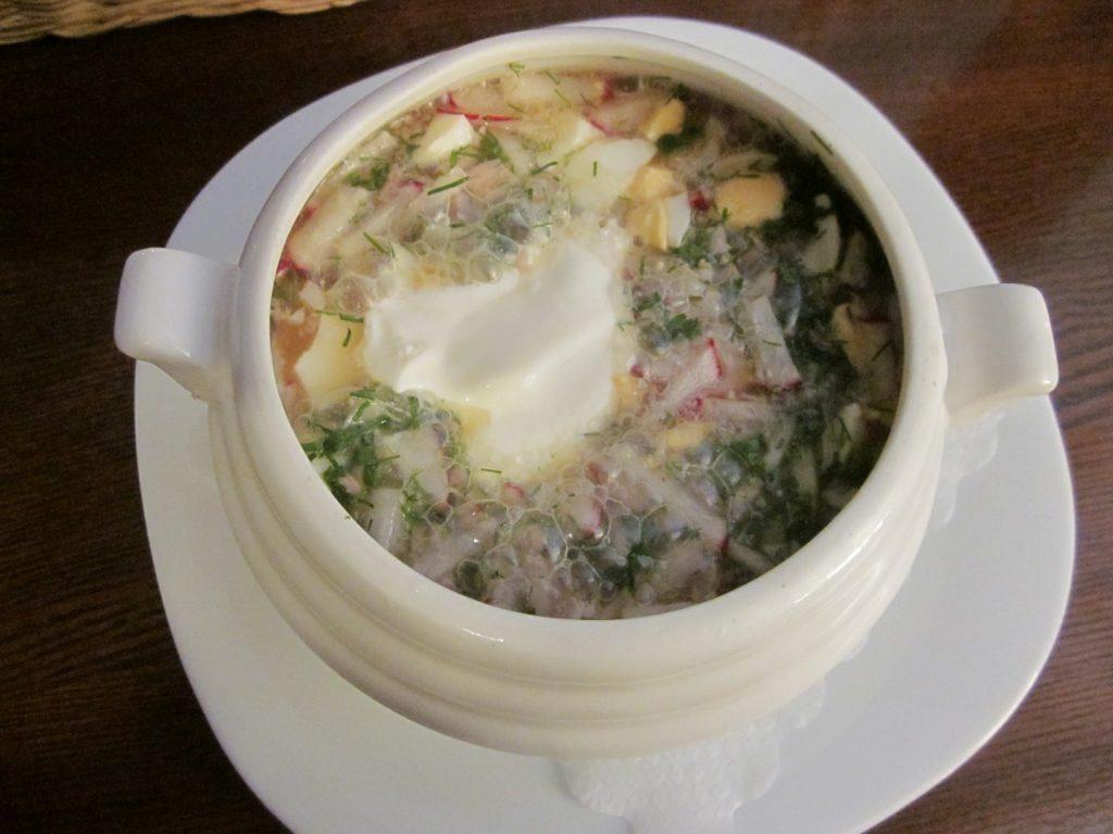 """Šalta rusiška tradicinė sriuba """"Okroška"""""""