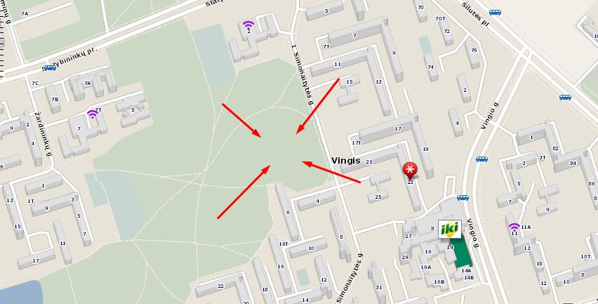 I. Simonaitytės kalnas / Google maps žemėlapis