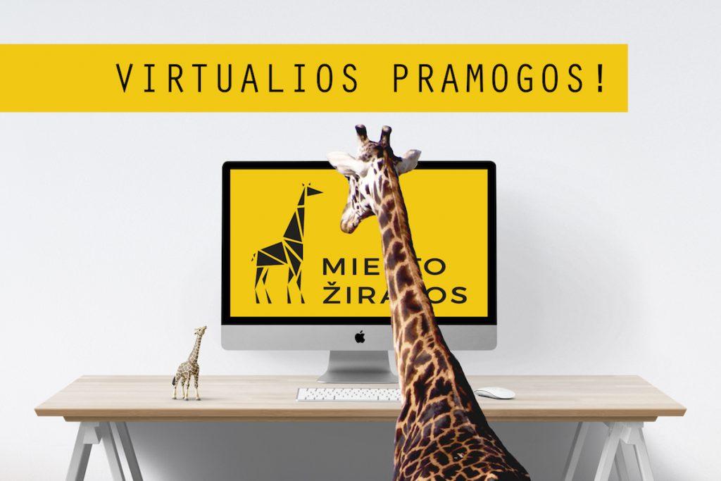 Miesto zirafu virtualiu online renginiu kalendorius
